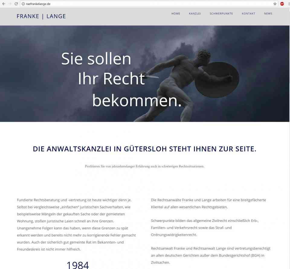 Website-Erstellung Rechtsanwalt